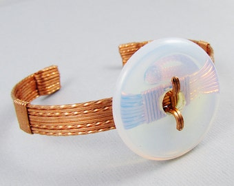 Opalite and Copper Donut Spinner Bracelet - CLEARANCE