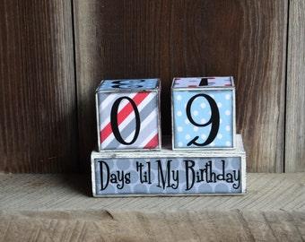 Birthday Countdown Advent blocks