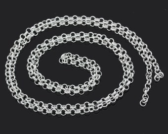 16Ft Necklace Chain Silver Plated Cable 5mm x 5mm - FD74