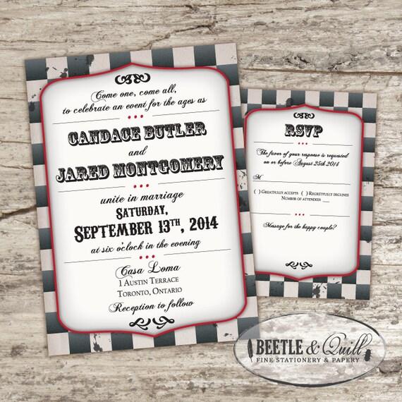 Steampunk Playbill Printable Wedding Invitation Set