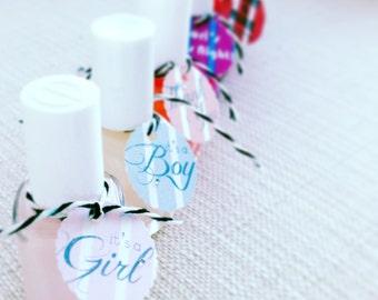 Nail Polish Tags, Perfect for Shower Favors