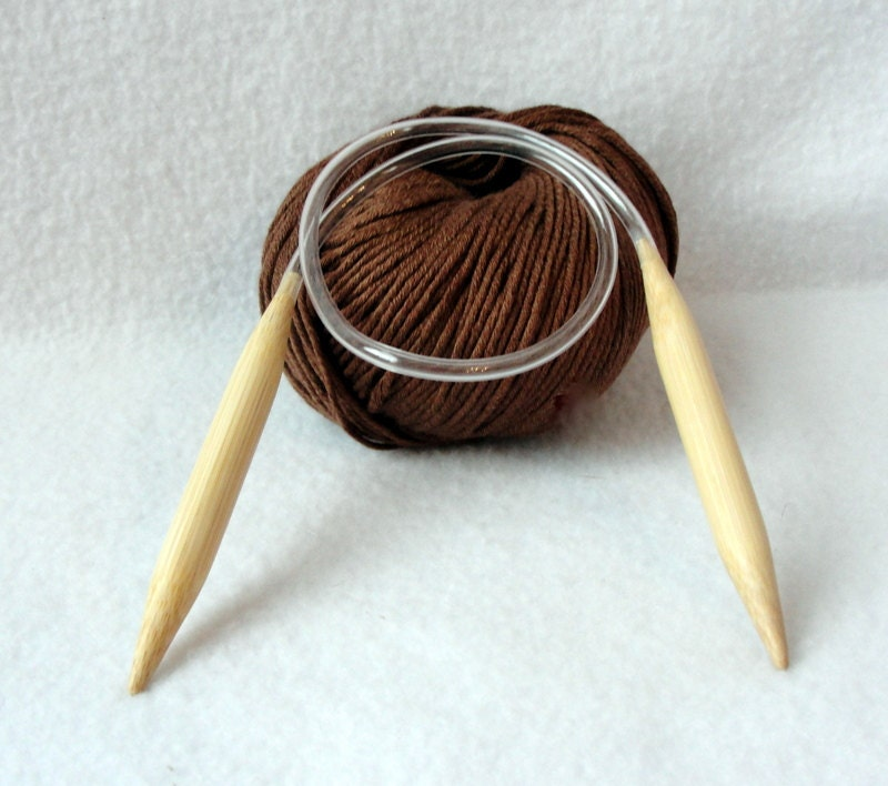 Circular Knitting Needles : Circular knitting needle Bamboo knitting by longbeachdesigns