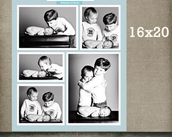 Brothers Storyboard template Story board, 16x20 Collage template Blog Board 16x20 Collage, Storyboard INSTANT DOWNLOAD