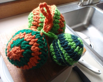 Swirls Dish Scrubbers Set of 3 Crochet