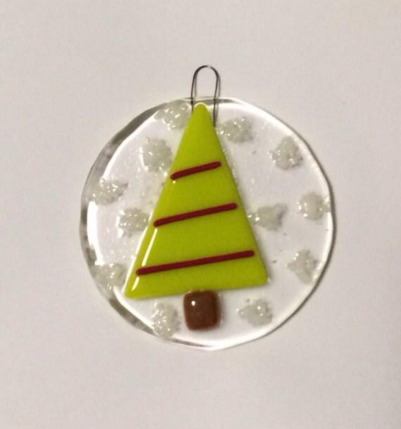 Christmas Tree Ornaments Etsy: Items Similar To Fused Glass Christmas Tree Ornament On Etsy