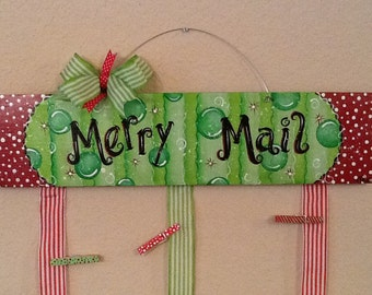 Merry Mail Christmas Card Holder