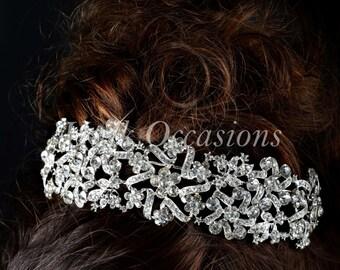 Rhinestone And Crystal Bridal Headband - Style 42