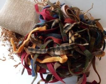 Primitive Folkart Hooked Rug Strips  We Ship Internationally