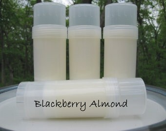 Blackberry Almond Scented Solid Lotion Bar - Twist Up Tube - Scented Travel Lotion - Scripture - John 3:16 - Christian