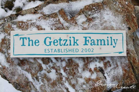 Family Sign - RUSTIC WASH - Personalized Primitive Custom Made, unique paint on wood grain