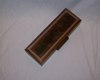 Fancy Walnut Watch Box, Eye Glass Case or for Keepsakes 2