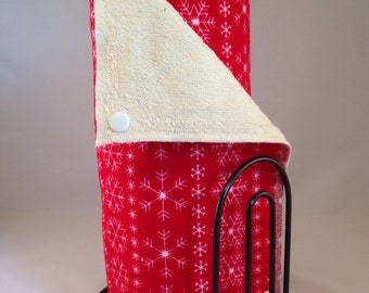 Snapping UnPaper Towels - Red Snowflake