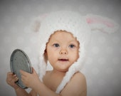 Baby Hat - Bunny Hat  - Toddler Bunny Hat - Soft Baby Hat - Ready to Ship - Easter Bunny Hat - Photography Prop Bunny Hat - by JoJosBootique