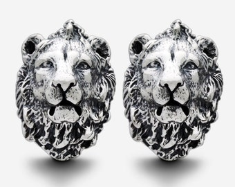 Sterling Silver King Lion Cufflinks