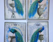 Peacock edible image wafer papers for your cakes or very large cookies
