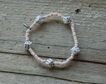 Perfect Domino Single Loop Bracelet - Proceeds Benefit Cancer Research