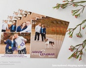 Purple Violet Wedding 4 four Photos Photo Pictures Picture Save The Date Save-The-Date Dates Magnets Magnet Postcards Postcard Cards Card