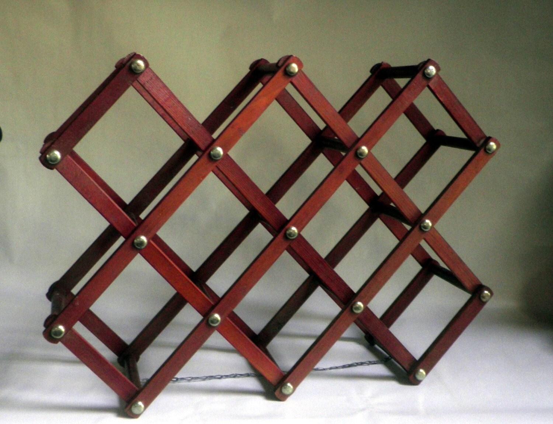 Vintage Expandable Wooden Wine Rack