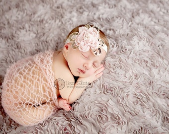 SALE headband normally 12.99 is 2.00 off Baby headband, newborn headband, , child headband and photography prop - Daisy chiffon