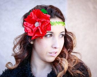 Red Rose Halo Style Headband