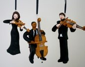 Violin/Guitar/Cello/Other Musician Ornament CUSTOMIZED to your features and Instrument