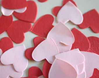 Red and Pink hearts - Die cut hearts (1 packet)