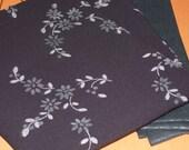 """Black + """"devore"""" velvet flowers 135x60cm (53x23"""")"""