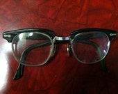petite vintage eyeglasses with wire frames for a retro style