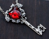 Red Key to My Heart Necklace