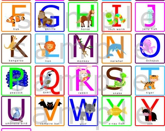 alphabet letters wall decal alphabet animals wall decal capital letters wall decal uppercase abcs wall sticker decal reusable hd