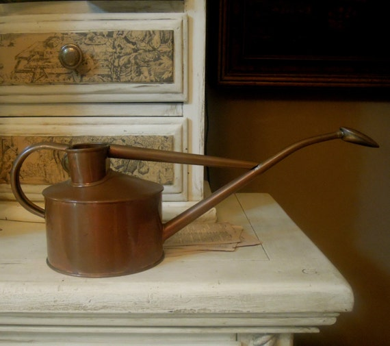 Vintage copper watering can haw 39 s watering can - Haws copper watering can ...