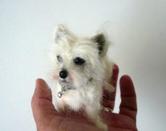 Needle felted Westhighland Terrier /Needle Felted Dog /OOAK/ Custom Miniature Sculpture of your dog