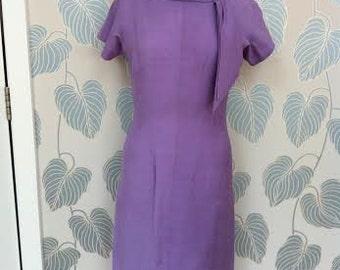 1960s Purple Wiggle Dress