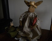 Primitive Fabric Garden Bunny