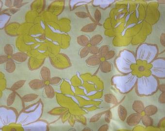Yellow Floral Fantasy Vintage Fabric