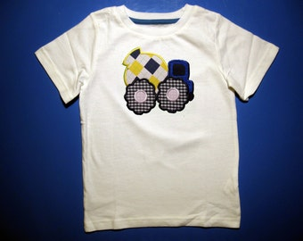 Baby one piece or toddlers tshirt. - Embroidery and appliqued cement mixer