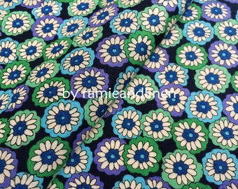 """cotton fabric, floral print cotton fabric, sold by half yard, 18"""" by 60"""" wide"""