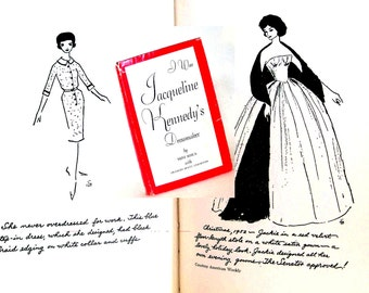 Vintage Jackie O Fashion Book 1960s Mad Men I Was Jacqueline Kennedy's Dressmaker 1st Edition Camelot