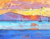 Santa Barbara Beach Sunrise Landscape Painting