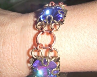 Blue Large Swarovski Crystal Bracelet