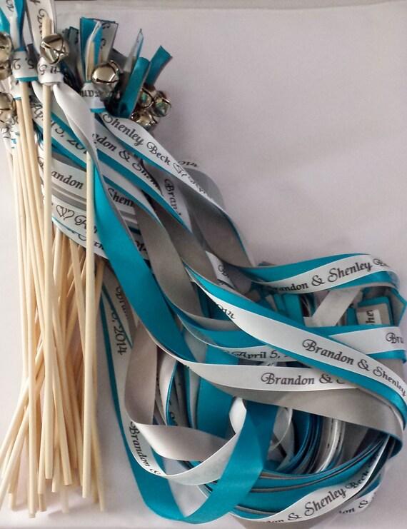Metallic Foil Streamer Wands : Wedding Wands Custom Listing for Angela