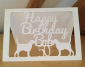 50th Birthday Card Ideal for Dog Lover SHIPS FAST and FREE, Free Personalization