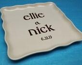 Custom Square Platter for Anniversary or Wedding