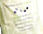 Tote Bag Come Unto Christ Embroidery