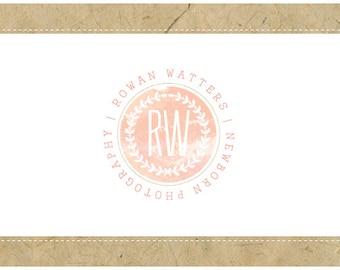 Custom Logo Design - PreDesigned Logo - PreMade Logo - Vector Logo - OOAK Logo - ROWAN Logo Design - Circle Logo - Round Logo - Stamp Logo