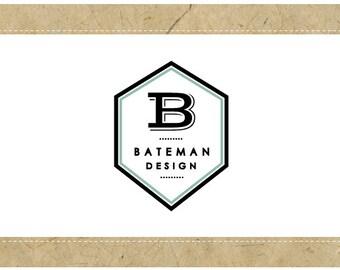 PreDesigned Logo - PreMade Logo - Vector Logo - Monogram Logo - BATEMAN Logo Design