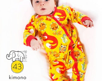 Baby footed one piece pattern // pdf download // photo tutorial // Preemie to 3T // #43