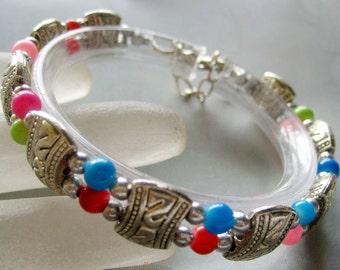 Tibetan Style Metal Beads Two Layers Bracelet  S283