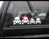 Skull Family Car Decal