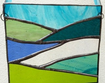 Stained Glass Moorland and Lakes Light Catcher